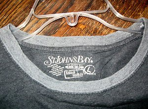 MEN'S 100% T-SHIRT BY ST. JOHN'S BAY, SIZE LARGE, GREY, NEW WITH TAG