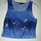 LADIES TANK TOP BY MY MICHELLE, SIZE MEDIUM, BLUE FLORAL DESIGN