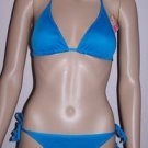 WOMEN'S TURQUOISE BLUE KNIT STRING BIKINI, SIZE S, NEW WITH TAGS!
