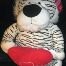 "WHITE TIGER ""SMITTEN KITTEN""  HOLDING HEART SAYS ""I LOVE YOU"" NEW WITH TAG!"