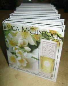 JESSICA MCCLINTOCK, LOT OF THREE SETS, 12 EDP VIALS EACH SET FOR TRAVEL, NEW