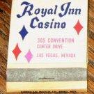 Vintage Royal Inn Casino Las Vegas Nevada Matchbook