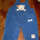 CUTE BABY COVERALLS BY CARTER'S, SIZE M (3-6 MONTHS) DOG THEMED APPLIQUES, BLUE