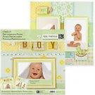 K&Company BABY BOY 12x12 Pre-Designed Page Kit - Fully Assembled Ready For Photo