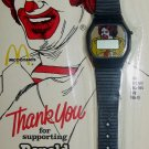 Ronald McDonald Official Watch 1984 Coca-Cola Licensed Product Brand New in pack