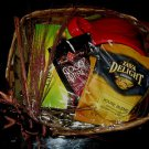 HOLIDAY GIFT BASKET -  LARGE MUG & ASSORT COFFEE & TEA