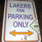 Los Angeles Lakers 12'' x 18'' Fan Parking Only Plastic Wall Sign New in Plastic