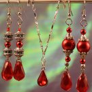 Queen Red Earring & Necklace Set