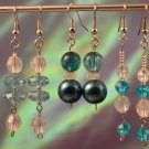 Majestic Beauty- Rich Teal & Turquoise adorned with Crystal Toned Earring Dangles