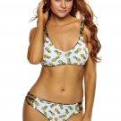 Crisscross Straps Pineapple Print Reversible 2pcs Swimsuit
