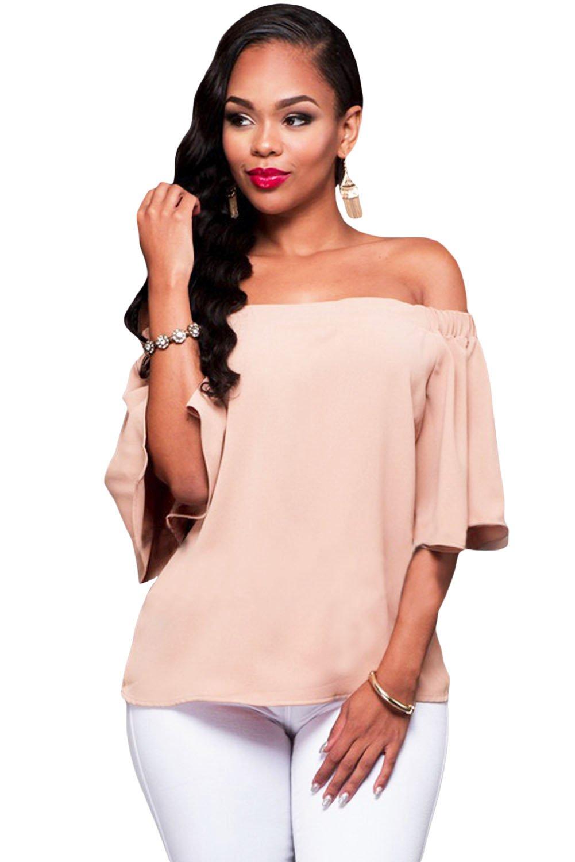 Pink Off-the-shoulder Top