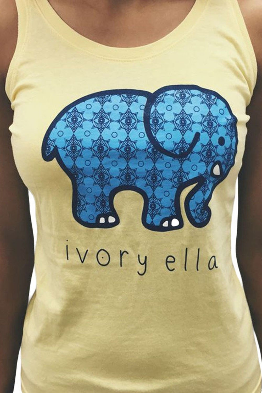 Yellow Womens Summer Paisley Elephant Print Vest