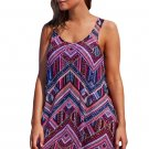 Purplish Boho Style Sheer Chiffon Beach Dress