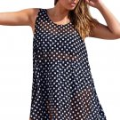 Monochrome Polka Dot Sheer Chiffon Beach Dress