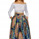 Vintage High Waist Paisley A-lined Midi Skirt