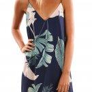 Tropical Palm Print Short Dress