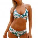 Leaf Print Cross Top Bikini