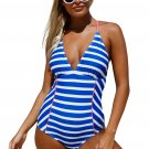 Chambray One Piece Bathing Suit