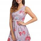 Pink Lace Trim Floral Boho Dress