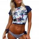 Beach Sunset Tankini Tie Side Bottom Swimsuit