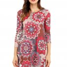 Bohemian Sunflower Print Grey Brown Dress