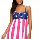 American Flag Tassel Spaghetti Strap Swimsuit