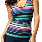 Rainbow Stripes Tankini Swimwear