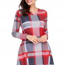 Multicolor Plaid Mini Dress