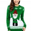 Green Santa Clause Holiday Sweater