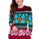 Cartoon Reindeer HO HO HO Christmas Sweater