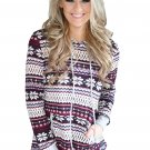 Purplish Red Snowflake New Christmas Hoodie