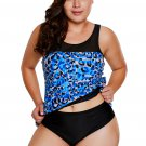 Seaglass Mirage Asymmetric Mesh Detail Tankini Swimsuit