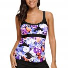 Violet Abstract Printed Camisole Tankini Top
