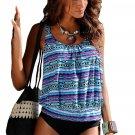 Tribal Beach Ethnic Print 2pcs Tankini Swimsuit