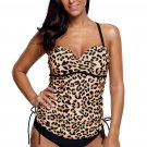 Cute Leopard Print Sweetheart Tankini Swimsuit