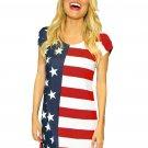 The Stars and Stripes Short Sleeve Shirt Dress