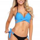 Mint Wrap Front Halter Bikini Tie Side Bottom Swimsuit