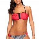 Red Frill Bikini and Plaid Swimsuit
