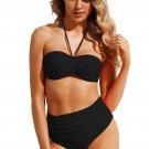 Black Halter High Waist Bikini Swimwear