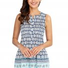 Bohemian Floral Print Ruched Tank Top