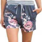 Flush Floral Print Charcoal Casual Shorts