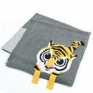 Gray Tiger Baby Receiving Blanket