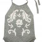 Grey Childish Flower Knit Hater Infant Bodysuit