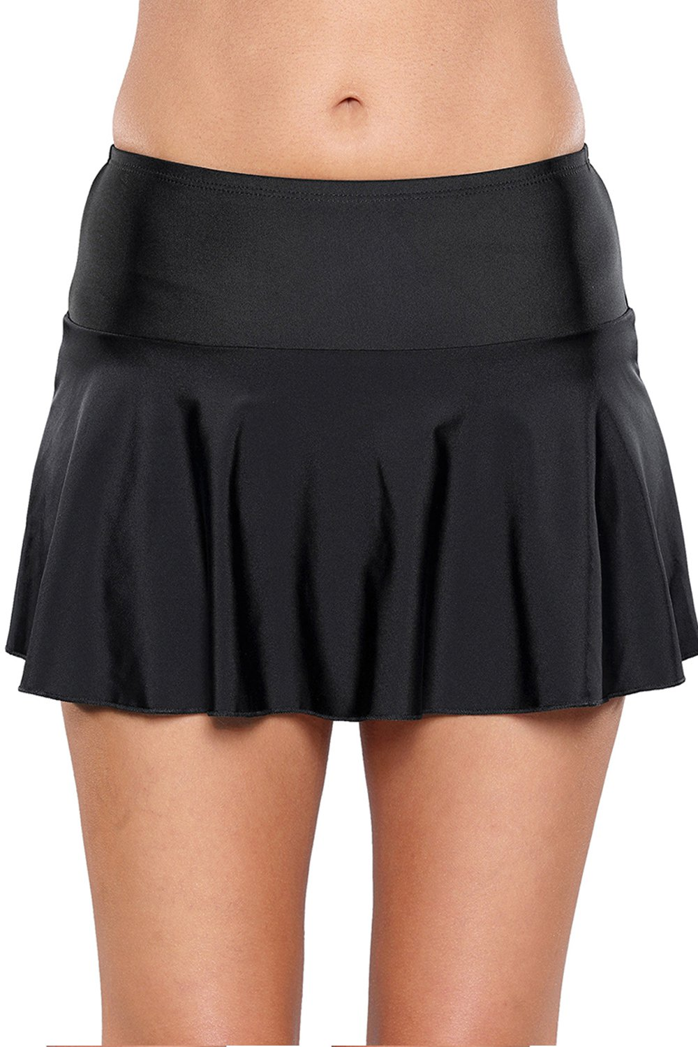 Black Ruffle Swim Skirt
