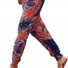 Colorful Bohemian Ethnic Print Straight Legs Jogger Pants