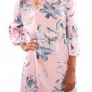 Light Pink Off Shoulder Floral Print Boho Dress