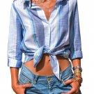 Denim Blue Striped Cotton Shirt