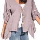 Khaki Roll Tab Sleeve Button Front Casual Shirt