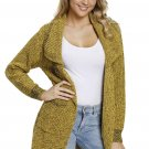 Yellow Chunky Long Cardigan with Side Pockets