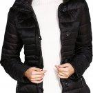 Black Core Down Hooded Jacket